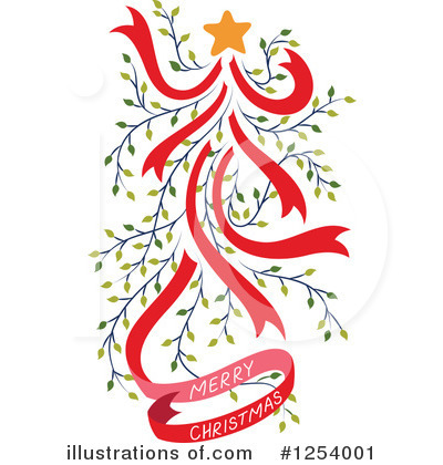 Christmas Tree Clipart #1254001 by Cherie Reve