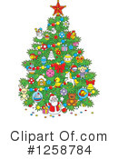 Christmas Tree Clipart #1258784 by Alex Bannykh