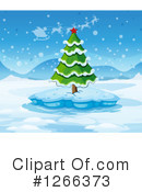 Royalty-Free (RF) Christmas Tree Clipart Illustration #1266373