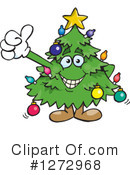 Royalty-Free (RF) Christmas Tree Clipart Illustration #1272968