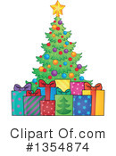 Royalty-Free (RF) Christmas Tree Clipart Illustration #1354874