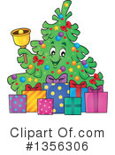 Royalty-Free (RF) Christmas Tree Clipart Illustration #1356306