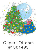 Christmas Tree Clipart #1361493 by Alex Bannykh