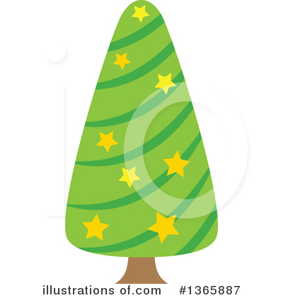 Christmas Tree Clipart #1365887 by visekart