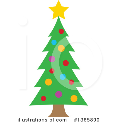 Christmas Tree Clipart #1365890 by visekart