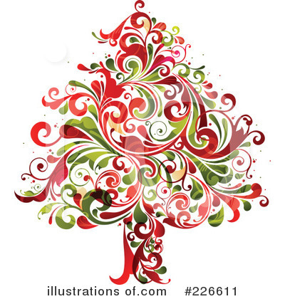 Royalty-Free (RF) Christmas Tree Clipart Illustration by OnFocusMedia - Stock Sample #226611