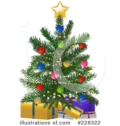 Christmas Tree Clipart #228322 by elaineitalia