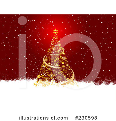Royalty-Free (RF) Christmas Tree Clipart Illustration by KJ Pargeter - Stock Sample #230598