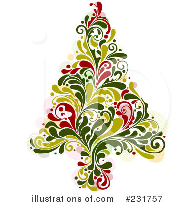 Christmas Tree Clipart #231757 - Illustration by BNP Design Studio