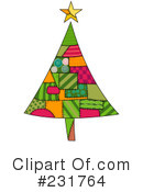 Royalty-Free (RF) Christmas Tree Clipart Illustration #231764