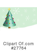 Royalty-Free (RF) Christmas Tree Clipart Illustration #27764