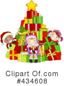 Royalty-Free (RF) Christmas Tree Clipart Illustration #434608