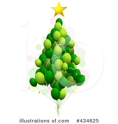 Royalty-Free (RF) Christmas Tree Clipart Illustration by BNP Design Studio - Stock Sample #434625
