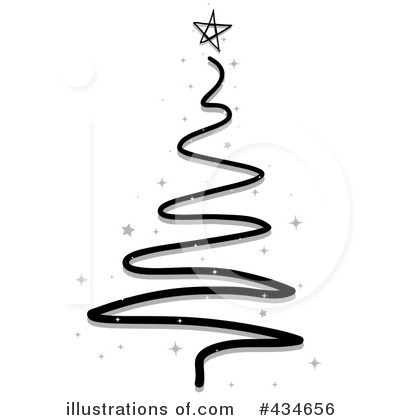 Christmas Tree Clipart Black And White.Christmas Tree Clipart 434656 Illustration By Bnp Design