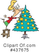 Christmas Tree Clipart #437675 by toonaday