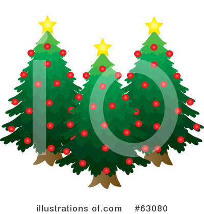 Christmas Tree Clipart #63080 by Rosie Piter