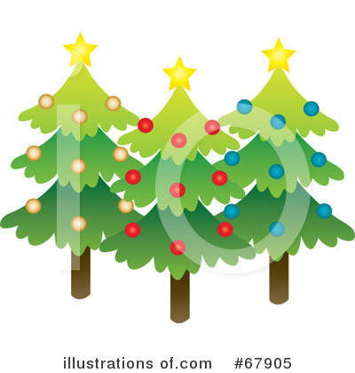 Christmas Tree Clipart #67905 by Rosie Piter