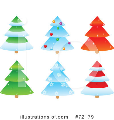 Christmas Tree Clipart #72179 by Pushkin