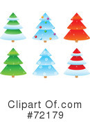 Royalty-Free (RF) Christmas Tree Clipart Illustration #72179