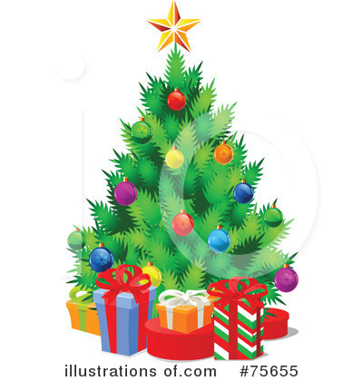 Christmas Tree Clipart #75655 by Pushkin
