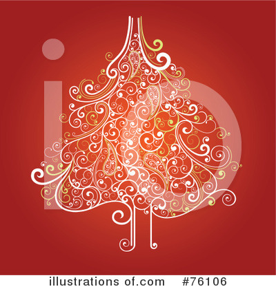 Royalty-Free (RF) Christmas Tree Clipart Illustration by OnFocusMedia - Stock Sample #76106