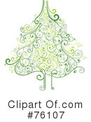 Royalty-Free (RF) Christmas Tree Clipart Illustration #76107