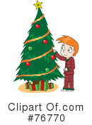 Royalty-Free (RF) Christmas Tree Clipart Illustration #76770