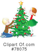 Royalty-Free (RF) christmas tree Clipart Illustration #78075