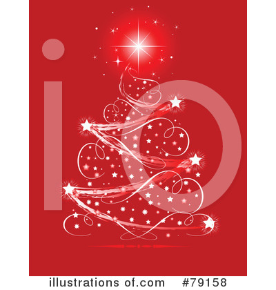 Royalty-Free (RF) Christmas Tree Clipart Illustration by Pushkin - Stock Sample #79158