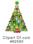 Royalty-Free (RF) Christmas Tree Clipart Illustration #82580