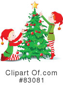Royalty-Free (RF) Christmas Tree Clipart Illustration #83081