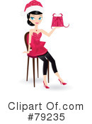 Royalty-Free (RF) Christmas Woman Clipart Illustration #79235