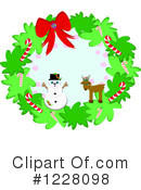 Christmas Wreath Clipart #1228098