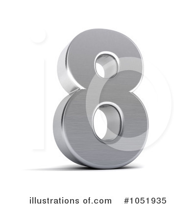 Chrome Number Clipart #1051935 by stockillustrations