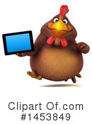 Chubby Brown Chicken Clipart #1453849 by Julos