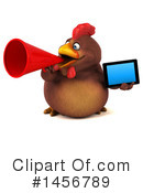 Chubby Brown Chicken Clipart #1456789 by Julos