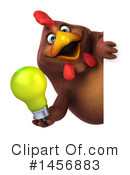 Chubby Brown Chicken Clipart #1456883 by Julos