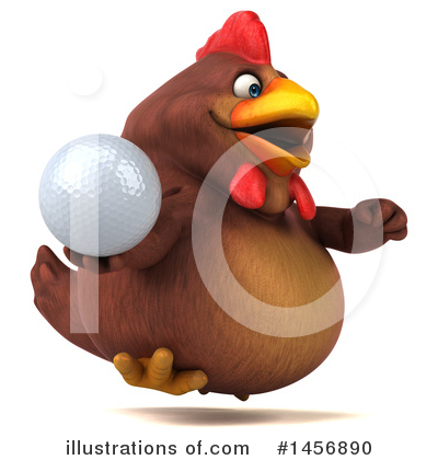 Chubby Brown Chicken Clipart #1456890 by Julos