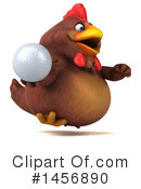 Royalty-Free (RF) Chubby Brown Chicken Clipart Illustration #1456890