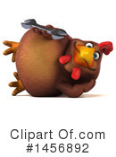 Royalty-Free (RF) Chubby Brown Chicken Clipart Illustration #1456892