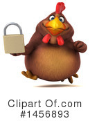 Royalty-Free (RF) Chubby Brown Chicken Clipart Illustration #1456893