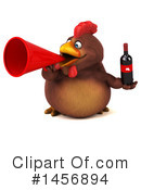 Royalty-Free (RF) Chubby Brown Chicken Clipart Illustration #1456894