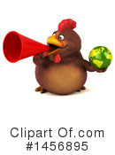 Royalty-Free (RF) Chubby Brown Chicken Clipart Illustration #1456895