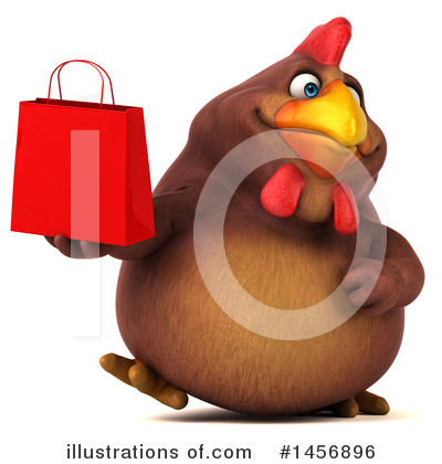 Chubby Brown Chicken Clipart #1456896 by Julos