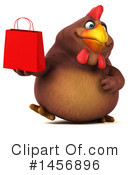 Royalty-Free (RF) Chubby Brown Chicken Clipart Illustration #1456896