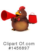 Royalty-Free (RF) Chubby Brown Chicken Clipart Illustration #1456897