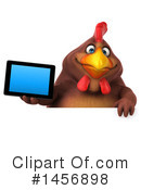 Royalty-Free (RF) Chubby Brown Chicken Clipart Illustration #1456898