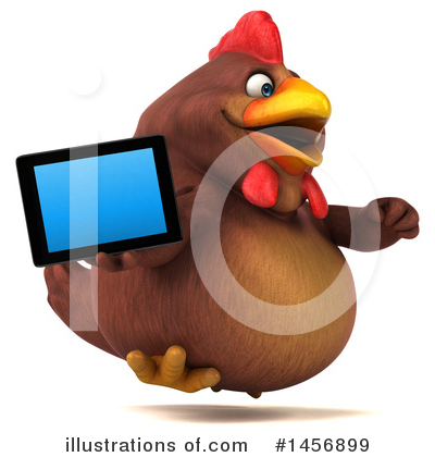 Chubby Brown Chicken Clipart #1456899 by Julos