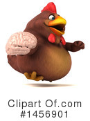 Royalty-Free (RF) Chubby Brown Chicken Clipart Illustration #1456901