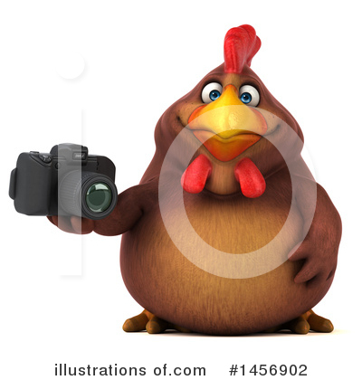 Chubby Brown Chicken Clipart #1456902 by Julos